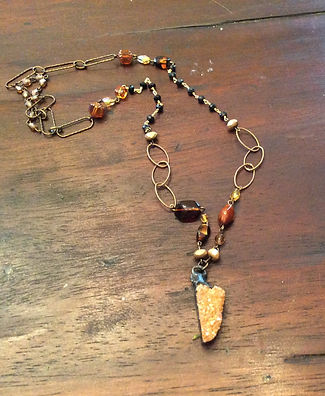 Gold Pyrite Healing Necklace