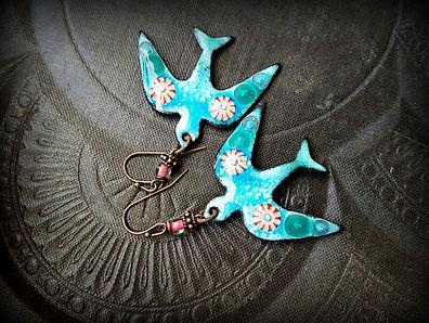 Lovely Blue Bird Earrings