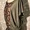 Thumbnail: blouse lin naturel plastron coton taille M/L
