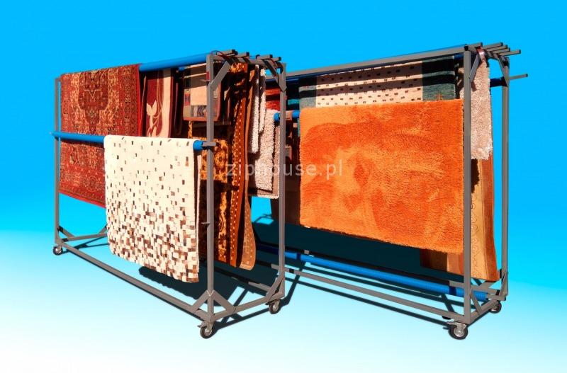 suszenie dywanu w pozycji pionowej