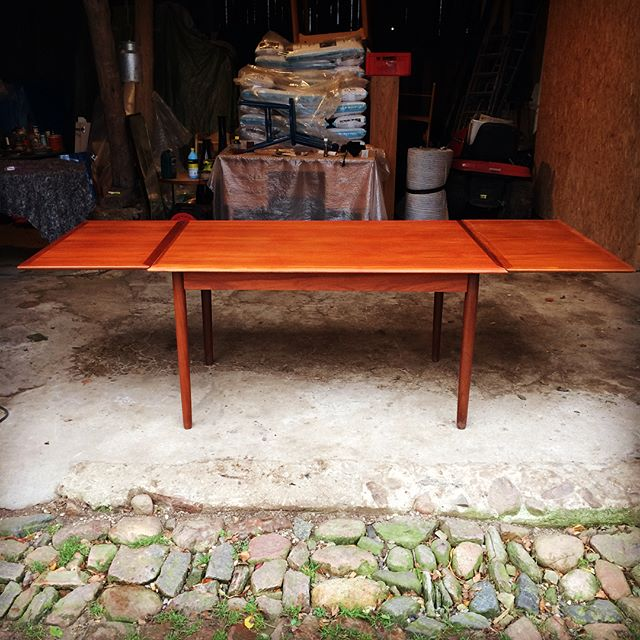 Teakbord med hollandsk udtræk