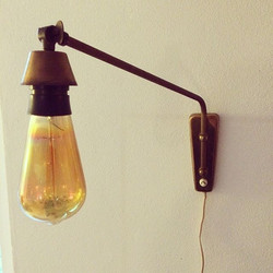 Messing svingarmslampe