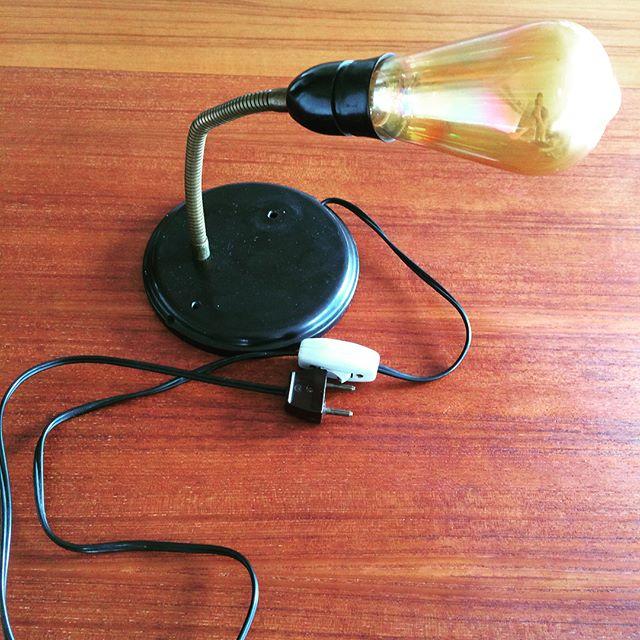 Bord-/væglampe med bakelitfod