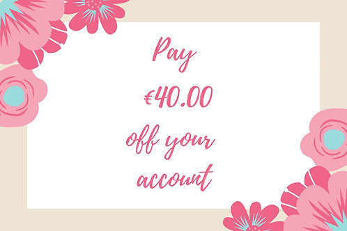 Pay €40.00