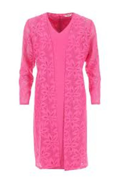 Avalon Pencil Dress & Sheer Lace Coat, Pink