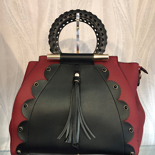 Red & Black Handbag