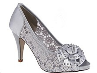 Barino Silver OpenToe Shoe