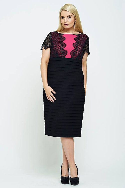 Personal Choice Black & Cerise Dress