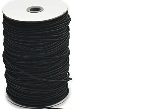 3mm Black round elastic cord