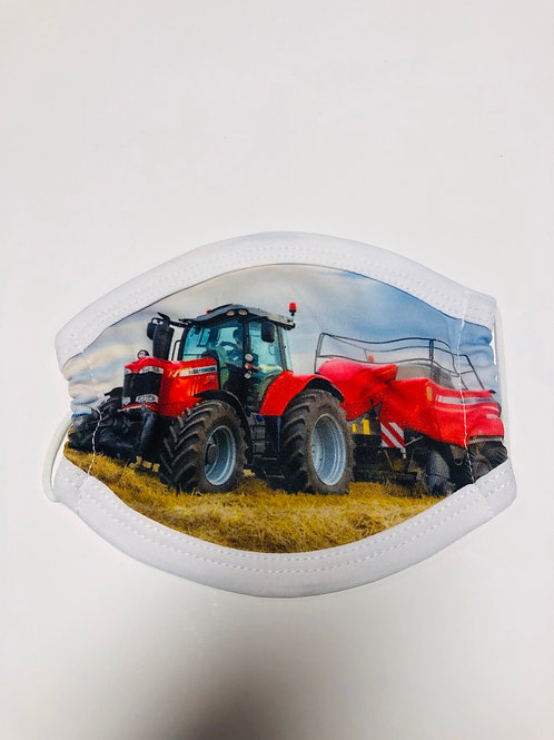 Children's Red Tractor Mask