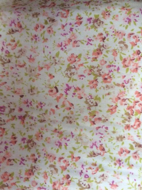 Peach Flowers Fabric