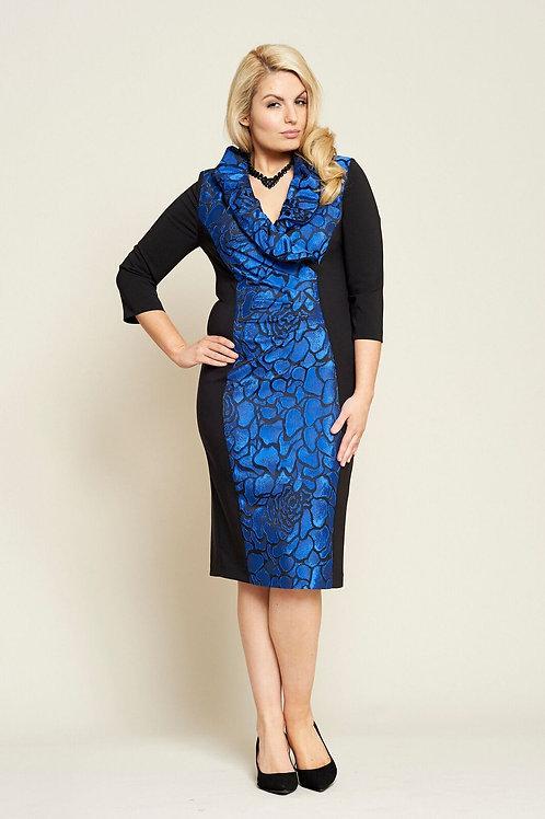 Personal Choice Black & Royal Blue Dress