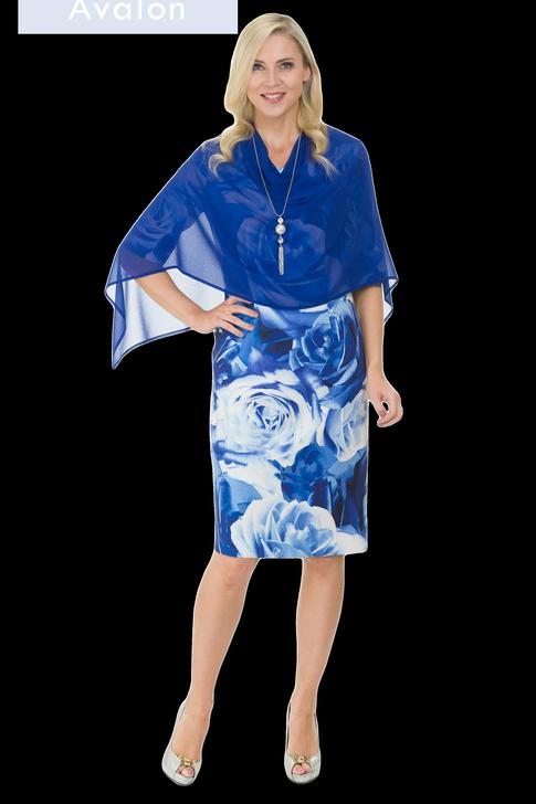 Avalon Blue Floral Dress