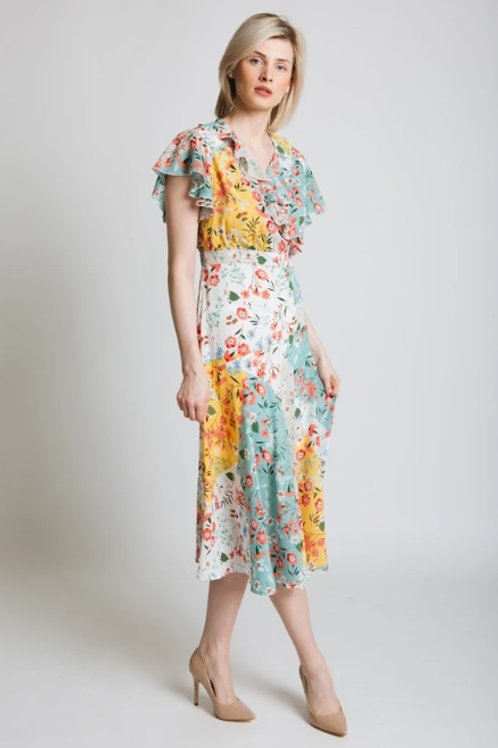 Jesscia Graff floral print patchwork dress