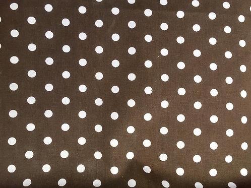 Brown Polka Dot Fabric