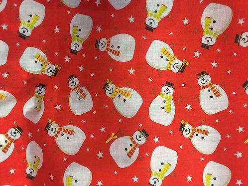 Snowman Fabric