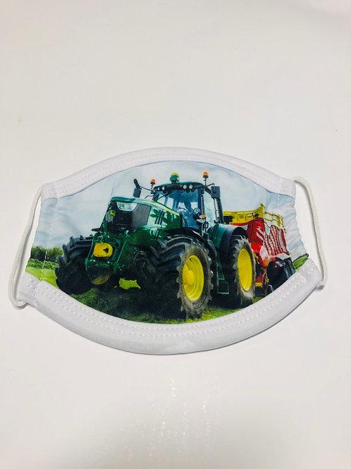 Children's Green Tractor Mask
