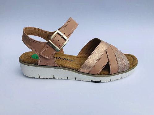 Reflexan Wedge Pink Sandal