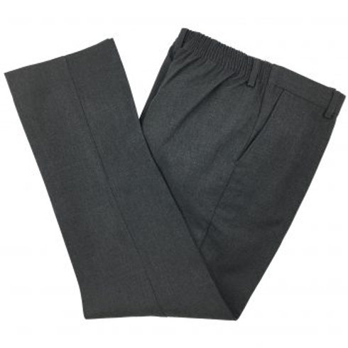 Boys Grey Elastic Waist Trousers