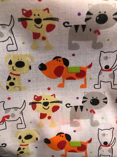Cats & Dogs Fabric