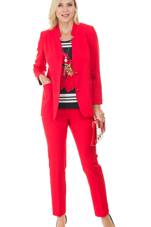 Avalon Red Trousers Suit