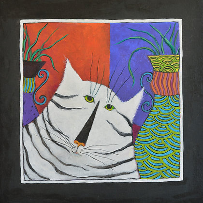"Blank Greeting Card, ""Cat of a Different Stripe"""