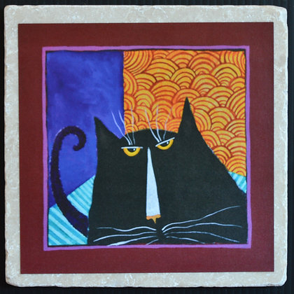 Cattitude, Trivet 6x6 inches