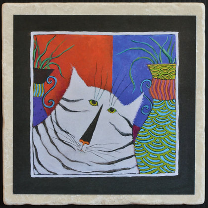 Cat of a Different Stripe, Trivet 6x6 inches