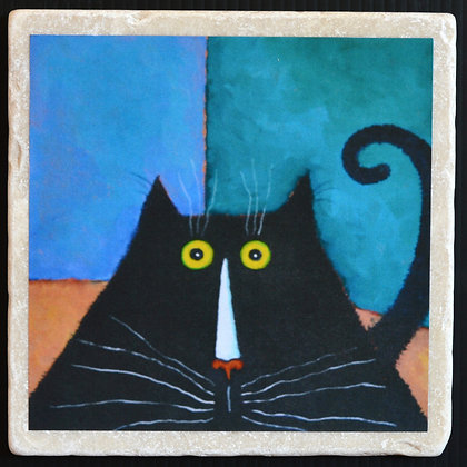 Catty Corner, Trivet 6x6 inches