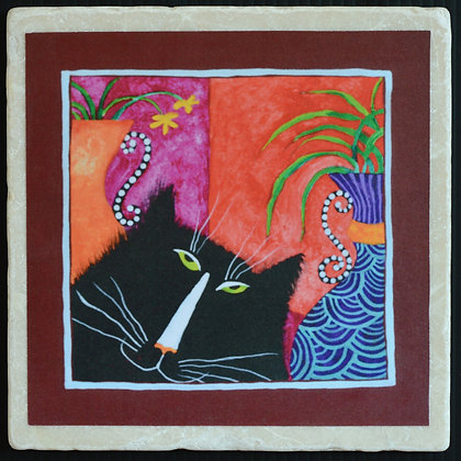 I is Purrty,Trivet 6x6 inches