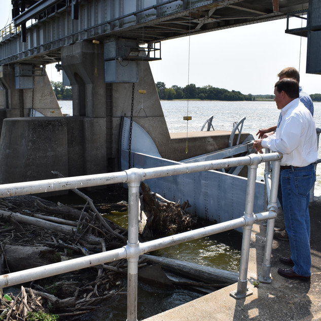 Graves Talks Port Investment on the Mississippi River