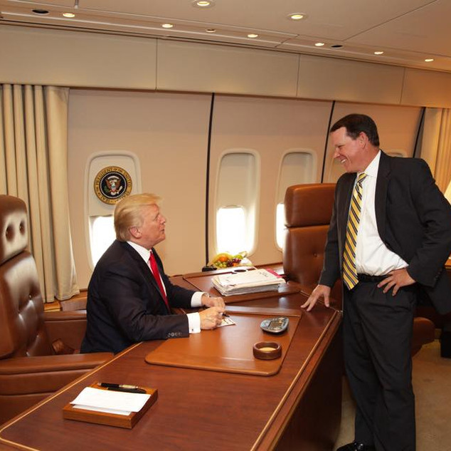 Graves Joins President Trump on Air Force One