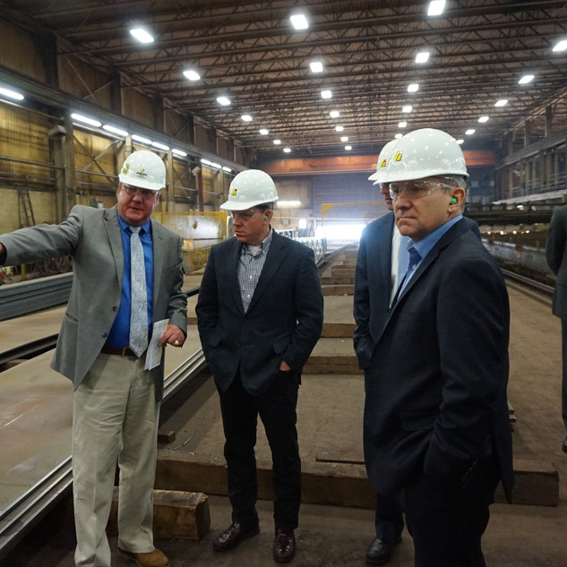 Graves Joins Smucker Steel Manufacturer Tour