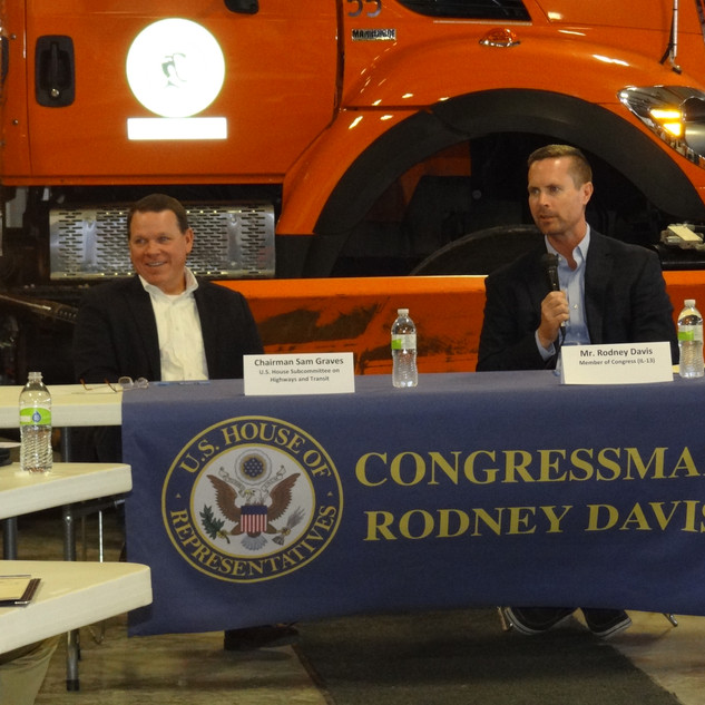 Graves join Davis for Trucking Round Table