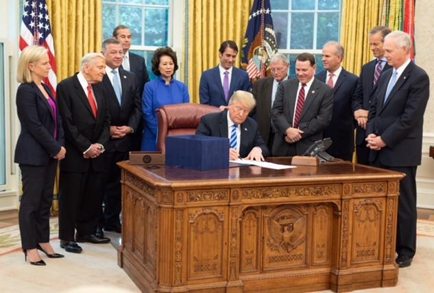 Trump Signing 2018 FAA Bill