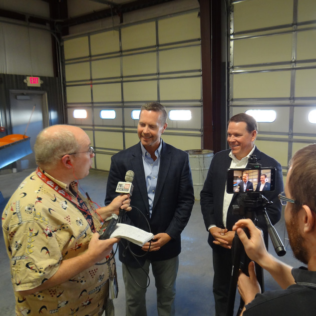 Graves and Davis host Press Gaggle on Local Infrastructure Issues