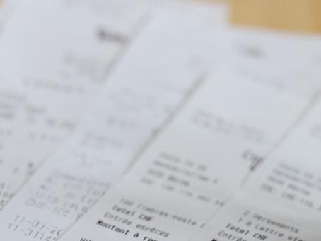 Vos tickets de caisse à comptabiliser