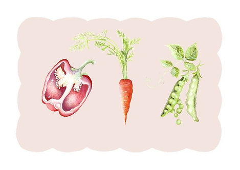Kitchen Garden 'Trio' II (42.0cm x 29.7cm)