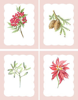 The Winter Flora Collection (Set x4)