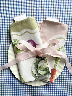 NEW The 'Kitchen Garden' Linen x4 Napkin Set