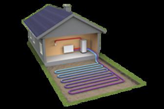boiler ground source heat pump central heating