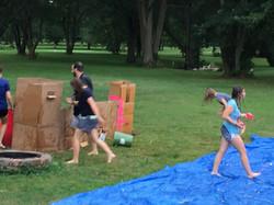 Castle water fight