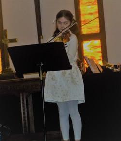 Gwen Poncher on violin