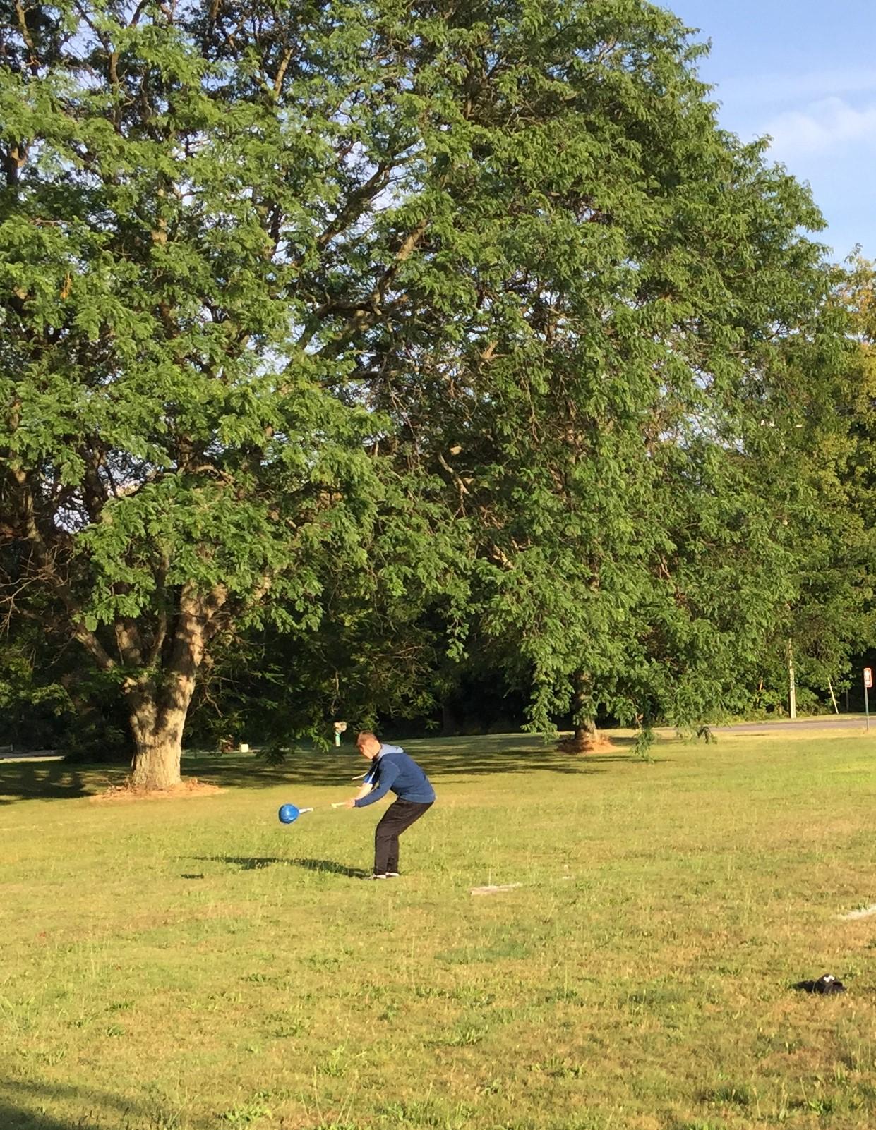 Ian Boulder toss