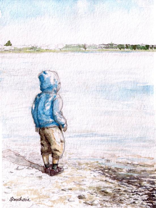 Liam au lac