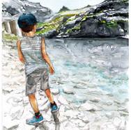 Liam au lac d'Artouste