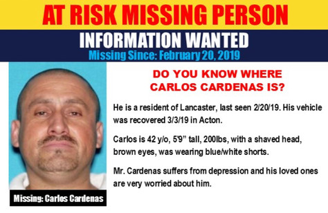 Help Locate Missing Person Carlos Cardenas
