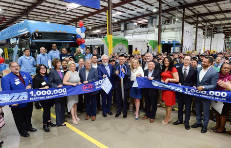 AVTA and BYD Celebrating Milestones in Electric Bus Technology