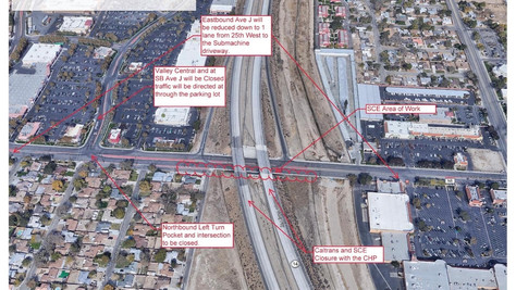 City of a Lancaster Road And Freeway Closure on July 17th, 2021.