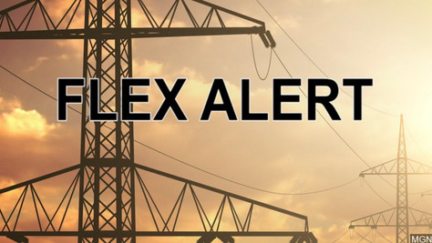Statewide Flex Alert issued for today at starting 4pm